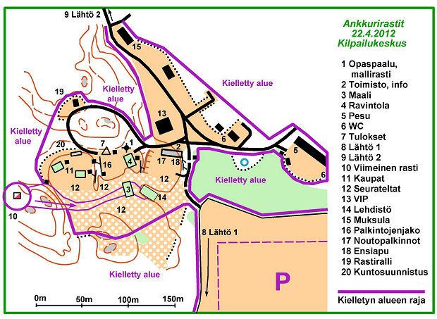 [Ankkurirastit 2012, kilpailukeskuskartta]