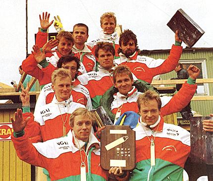 [Tiomilan voittajajoukkue vuonna 1991]